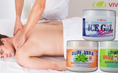 Regenerační masážní gely Vivaco
