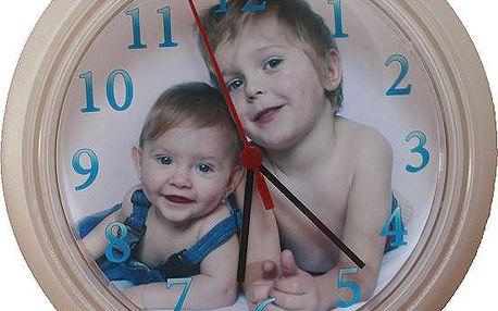 Nástěnné hodiny s vlastní fotografií za akční cenu