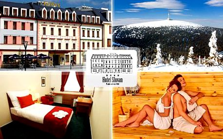 Prestižní Hotel Slovan**** pro 2 osoby s polopenzí, degustačním menu, luxusní privátní saunou nebo wellness procedurami. Platnost až do konce roku 2016!
