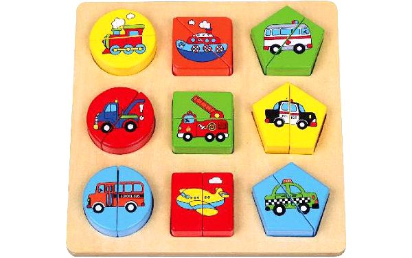 STUDO WOOD Puzzle dopravní prostředky