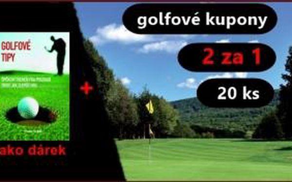Ušetřete tisíce díky kuponům 2 za 1. Získejte 20 kuponu na sezonu 2016 + dárek v podobě knížky Golfové tipy jen za 365 Kč a hrajte golf na 28 hřištích ve dvou za cenu jednoho.