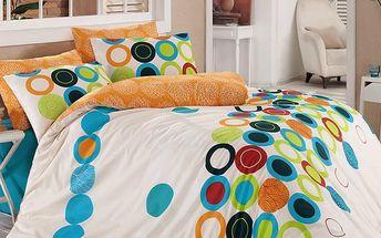 Tip Trade Bavlněné povlečení Beneton Orange, 140 x 220 cm, 70 x 90 cm