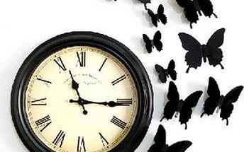 Sada 12 3D motýlků s poštovným v ceně!