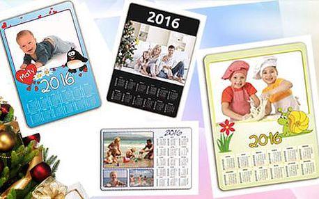 Magnetický kalendář na rok 2016 z vlastních fotografií. Osobní odběr zdarma.