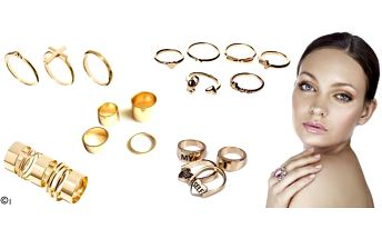 Sady prstenů pro všechny ženy a dívky, které milují originální a zároveň jemné doplňky, které nabízejí mnoho způsobů nošení! Všechny spolu dokonale ladí, takže je už jen na vás, jestli podtrhnete svůj šarm jen jedním nebo třeba všemi najednou.
