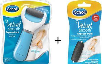 Scholl Velvet Smooth Express Pedi + 2 válečky navíc