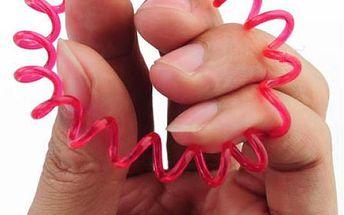 Barevné gumičky ve tvaru telefonního drátu - 10 kusů - skladovka