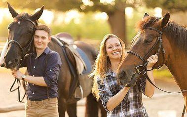 3denní až 6denní pobyt u koní pro 2 s polopenzí na Slovensku v penzionu Motešice