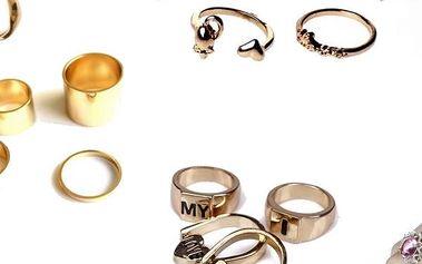 Sady prstenů pro všechny ženy a dívky, které milují originální a zároveň jemné doplňky.