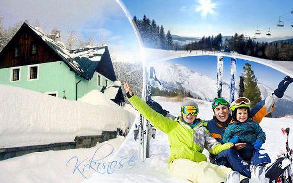 Krkonoše - 3, 4 či 5denní zimní rodinná dovolená pro 2 dospělé + 2 děti do 12 let zdarma včetně polopenze!