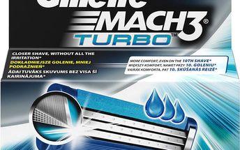Gillette Mach 3 Turbo náhradní hlavice do holicího strojku 4 ks