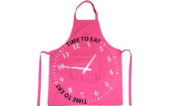 BO-MA Trading Zástěra TIME TO EAT, fialová, 75 x 85 cm