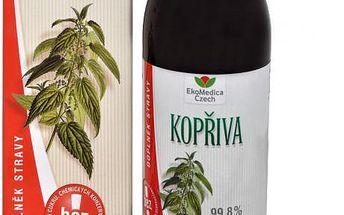 EkoMedica Czech Kopřiva - 99,8% šťáva z kopřivy 500 ml