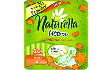 Naturella Calendula Tenderness ultra normal hygienické vložky s jemnou vůní 20 ks/bal.