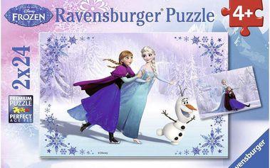 Ravensburger Ledové království 2 x 24 dílků