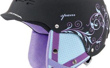 Lyžařská helma Alpina Spam Cap, černo-fialová, vel. 54-57 cm