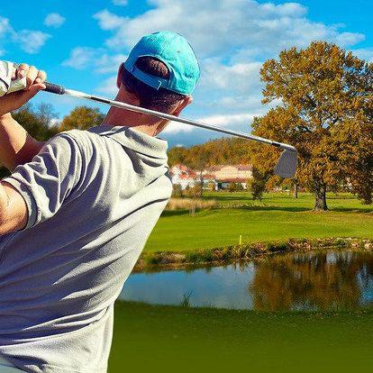 Jednodenní golfový kurz MAX v luxusním Golf&Spa Resortu Hluboká