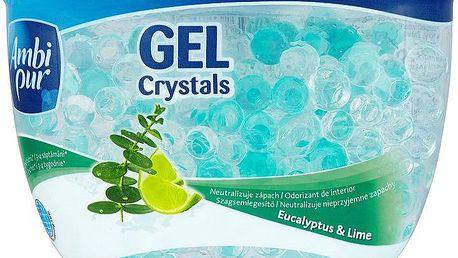 Ambi Pur Gel Crystals osvěžovač vzduchu s vůní eukalyptu a limetky 150 g