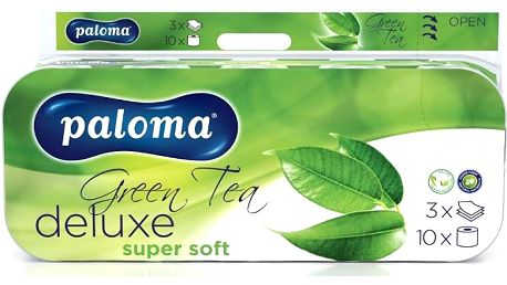 Toaletní papír PALOMA Deluxe Green Tea 3vrstvý 10 ks