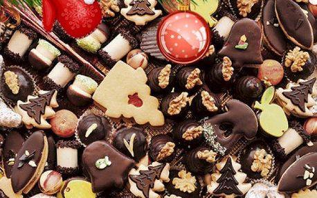 1 kg tradičního ručně vyráběného vánočního cukroví ve více druzích.
