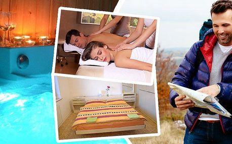 3denní wellness pobyt pro dvě osoby s polopenzí a masáží. Privátní vířivka, finská nebo infrasauna.