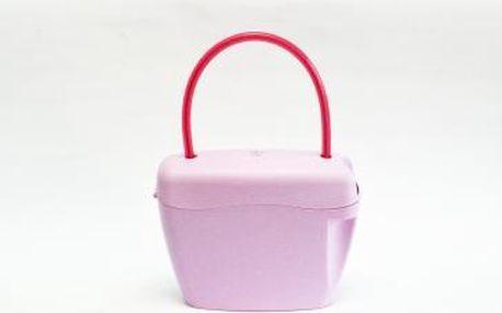 Růžová kabelka na zámek