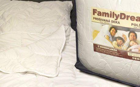 Sada prošívané deky a polštáře