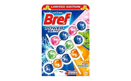Bref Power Aktiv Tropic Freshness WC blok 3 x 50 g