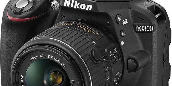 Nikon D3300 + 18-55 mm VR II + 55-200 mm VR + Dárek v hodnotě 490 KČ, + Poukaz na 4x čištění čipu v hodnotě 2000 Kč