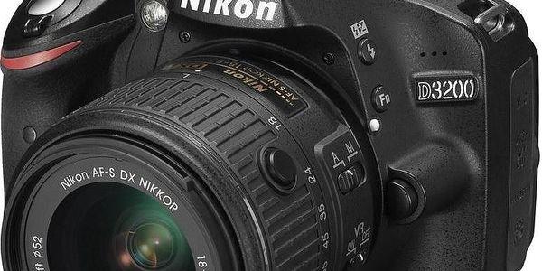 Nikon D3200 + 18-55 mm VR II + 55-200 mm VR II + Dárek v hodnotě 490 KČ