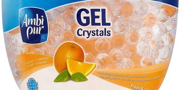 Ambi Pur Gel Crystals gelový osvěžovač vzduchu Fresh & Cool 150 g