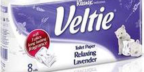 Toaletní papír Veltie Relaxing s jemnou vůní levandule - 3vrstvý 8 ks