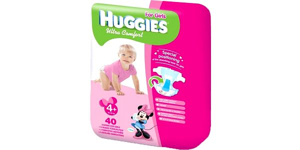 Huggies Ultra Comfort Jumbo Girl 4+, 40 ks - jednorázové pleny