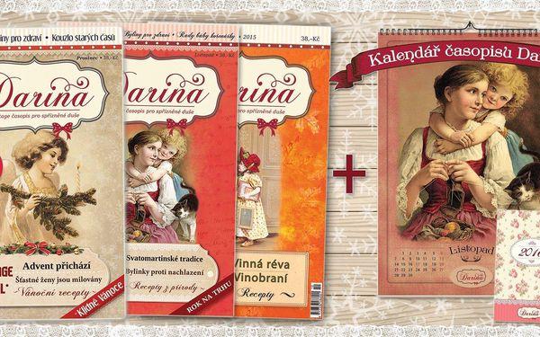 Vintage časopis Darina a kalendáře 2016