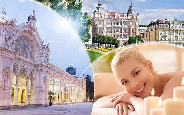 Mariánské Lázně na 3 až 6 dní pro dva s polopenzí a mnoha wellness procedurami v hotelu*** poblíž kolonády!