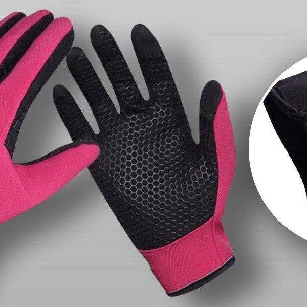 Voděodolné a větruvzdorné dotykové rukavice