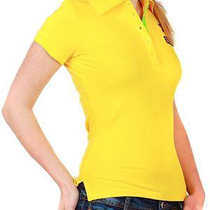 Krásné tričko s límečkem žlutá