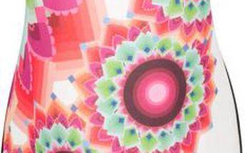Desigual Dámské šaty Adriana Rep Virtual Pink 55V21P5 3145 M + Papírová taška Desigual ZDARMA