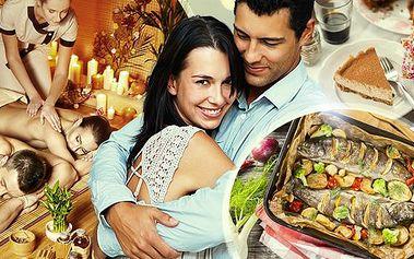 Romantický večer pro 2 osoby! 3chodová večeře + 60-120min. aroma masáž! Možnost odvozu tam i zpět!