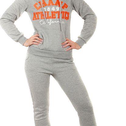 Pohodlná sportovní souprava oranžová