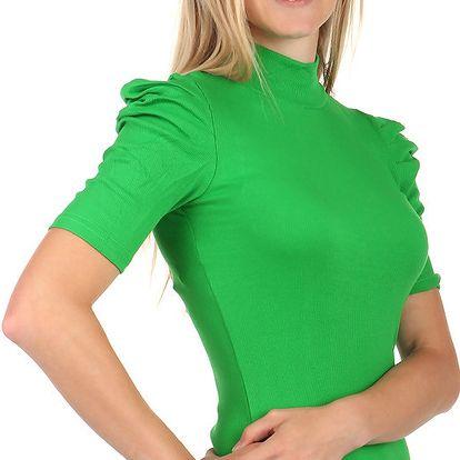 Elegantní tričko s rolákem zelená