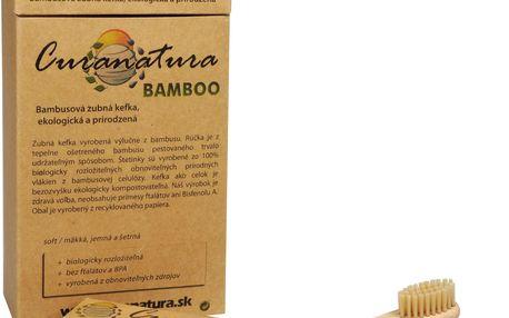Ostatní Zdravý zubní kartáček Curanatura 12 ks Bamboo - zelená volba