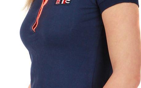 Dámské triko s límečkem modrá