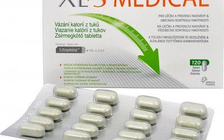 Omega Pharma XLtoS Medical Vázání kalorií z tuků s vitamíny 120 tbl. + Panthenol - šampón na vlasy ZDARMA