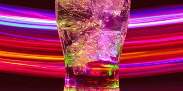 LED svítící sklenice