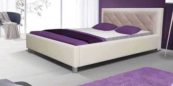 Čalouněná postel VI - 160x200 cm (madryt 112/casablanka 2303)