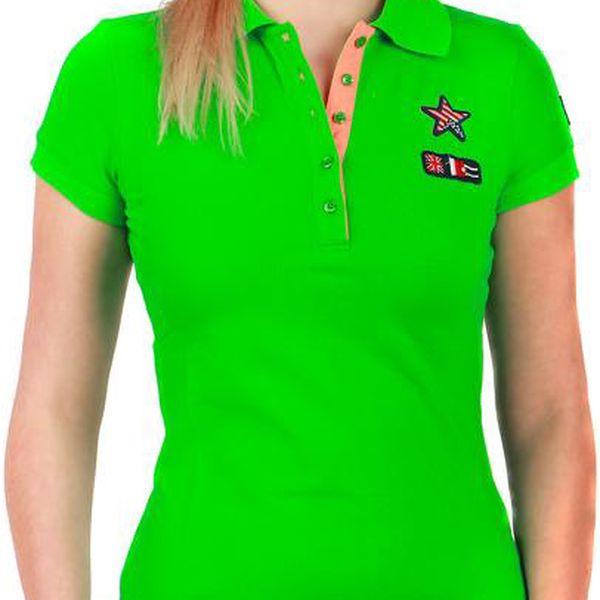 Krásné tričko s límečkem modrá