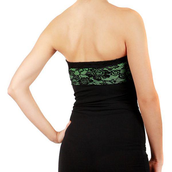 Společenské šaty s krajkou - party šaty zelená3
