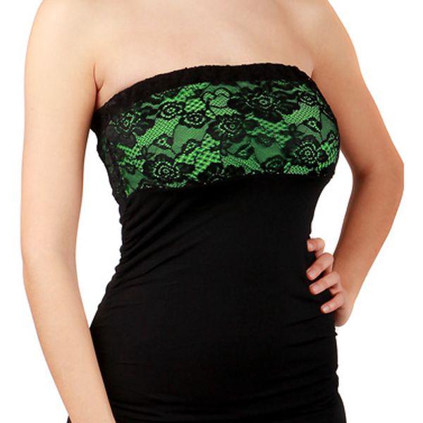 Společenské šaty s krajkou -  party šaty zelená