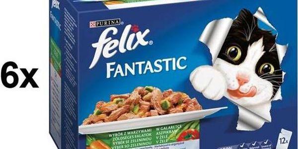 Felix Fantastic výběr se zeleninou 6 x (12 x 100g) + Doprava zdarma